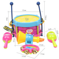 Children pat drums children hand drums musical instruments children early childhood education baby toys percussion 0-2-3 years old