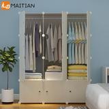 简易衣柜简约现代经济型组装单人小户型省空间塑料布衣橱宿舍柜子