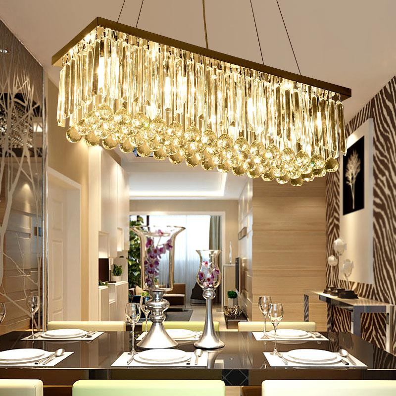 金色水晶餐吊灯