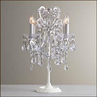 饰个性 床头灯法式欧式水晶书房卧室公主房装 别墅奢华台灯 美式个性
