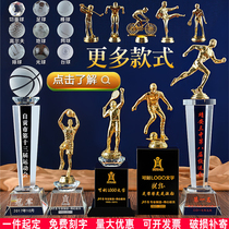 Metal Soccer Badminton Marathon Wushu Ping-pong running basketball sports event Crystal Trophy custom-made system