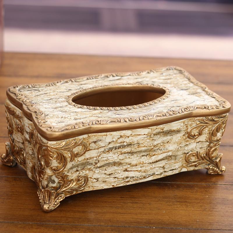 欧式纸巾盒高档客厅抽纸盒