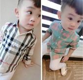 小童衬衣男洋气男宝格子衬衫婴儿纯棉衬衫秋款纯棉长袖宝宝衬衣男