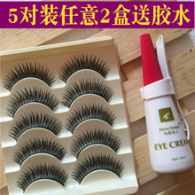 A box of five pairs of thick false eyelashes for package mail