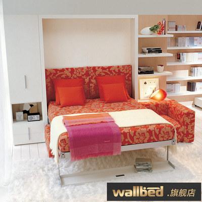 wallbed沙发壁床 隐形床折叠多功能壁柜衣柜床客厅卧室组合翻板床