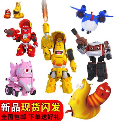 新款庄臣爆笑虫子机甲战队变形车机器人玩具红小闹黄小憨五合体