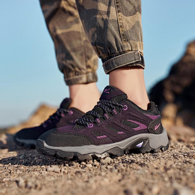 正品回力鞋新款户外运动鞋女鞋透气网面登山鞋耐磨防滑徒步鞋