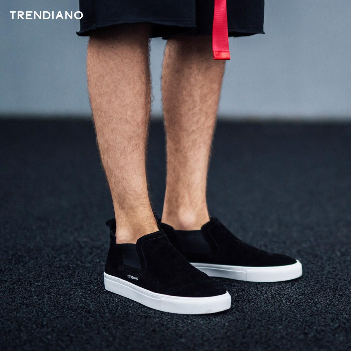 【聚】TRENDIANO反绒皮懒人低帮鞋板鞋3EA151803P