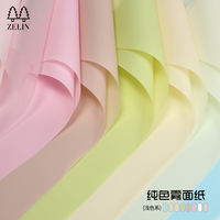 Korean bouquet wrapping paper Thick waterproof solid color matte paper Flower shop wrapping paper Flower wrapping paper material