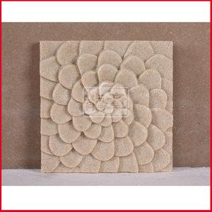 上海龙章 砂岩背景墙砖文化石/沙岩浮雕板材/沙雕家装板材-大花板
