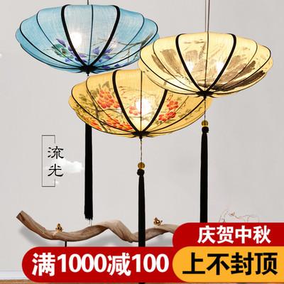 新中式吊灯中国风灯笼灯复古灯饰卧室灯创意客厅餐厅古风仿古灯具