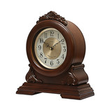 Golden Bell, Europe-style retro solid wooden seat clock, living room, large silent desk clock, American full-time clock pendulum