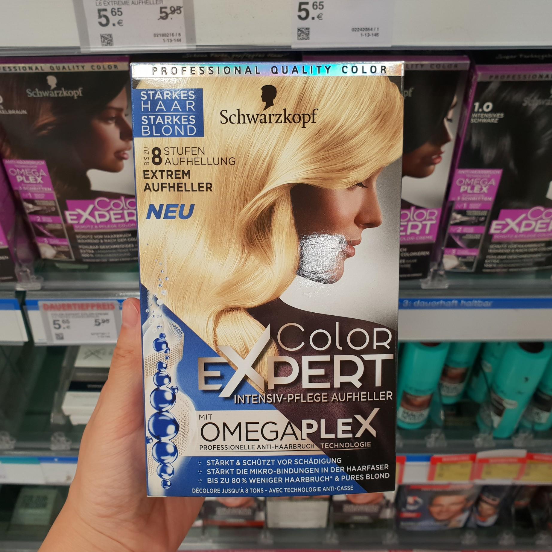 现货!德国施华蔻color expert漂发剂漂发膏含omegaplex 8度 新
