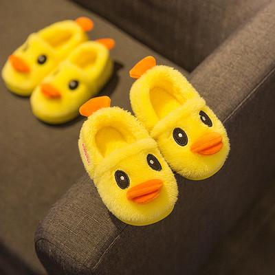 宝宝棉拖鞋1-3岁冬季男童2防滑软底儿童室内女幼儿棉鞋可爱冬天秋