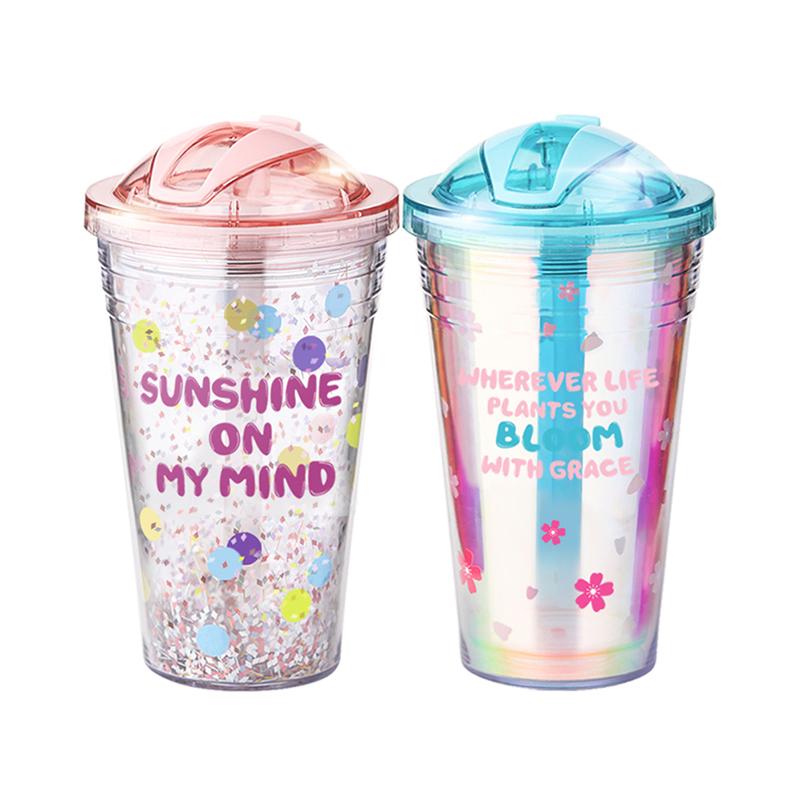 tanana吸管杯大人少女心便携夏天大容量随手杯可爱网红水杯ins风