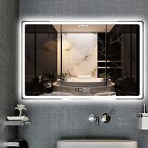 浴室镜子免打孔卫浴镜卫生间化妆壁挂梳妆厕所洗手间简约贴墙挂镜