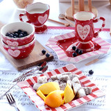 European ceramic tableware set home dish set creative personality dishes couple wedding gift gift gift