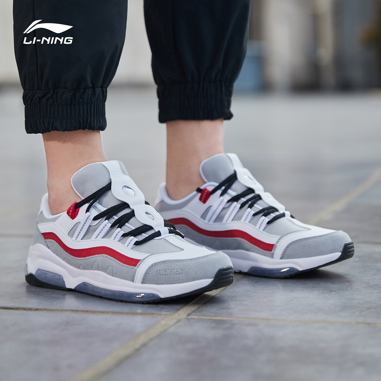 李宁男鞋跑步鞋男回溯90运动鞋男正品夏季透气减震气垫复古慢跑鞋