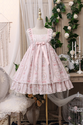 【预约】Alice girl原创新款 lolita相框猫咪高腰蝴蝶结jsk连衣裙