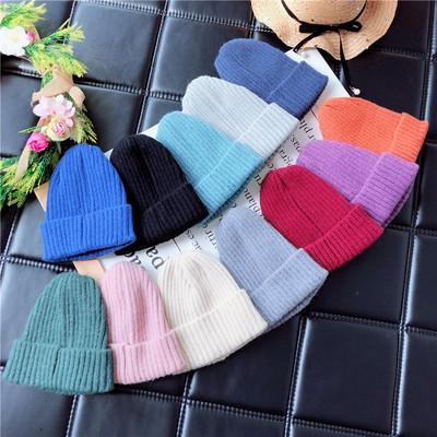 韩版女童春秋冬帽子男童套头帽宝宝毛线保暖婴儿儿童尖小当先 09