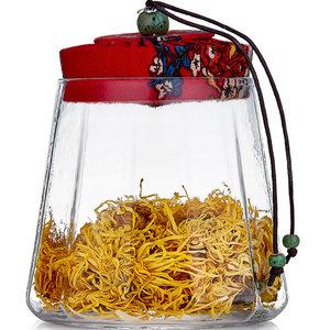 悦物复古锤纹玻璃茶叶罐普洱茶罐子装茶叶罐家用便携密封储物罐