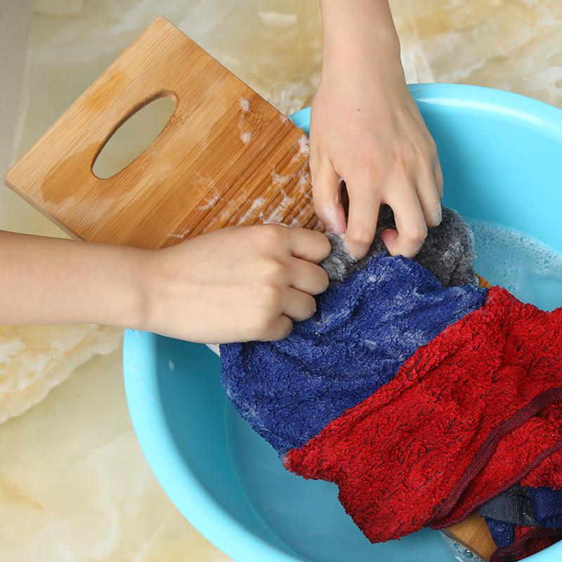 双枪竹制小搓衣板实木防滑洗衣板家用垫洗衣盆包邮加厚大号跪不坏