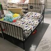 宜家正品国内代购米隆加长床婴儿儿童床框架伸缩床铁艺床