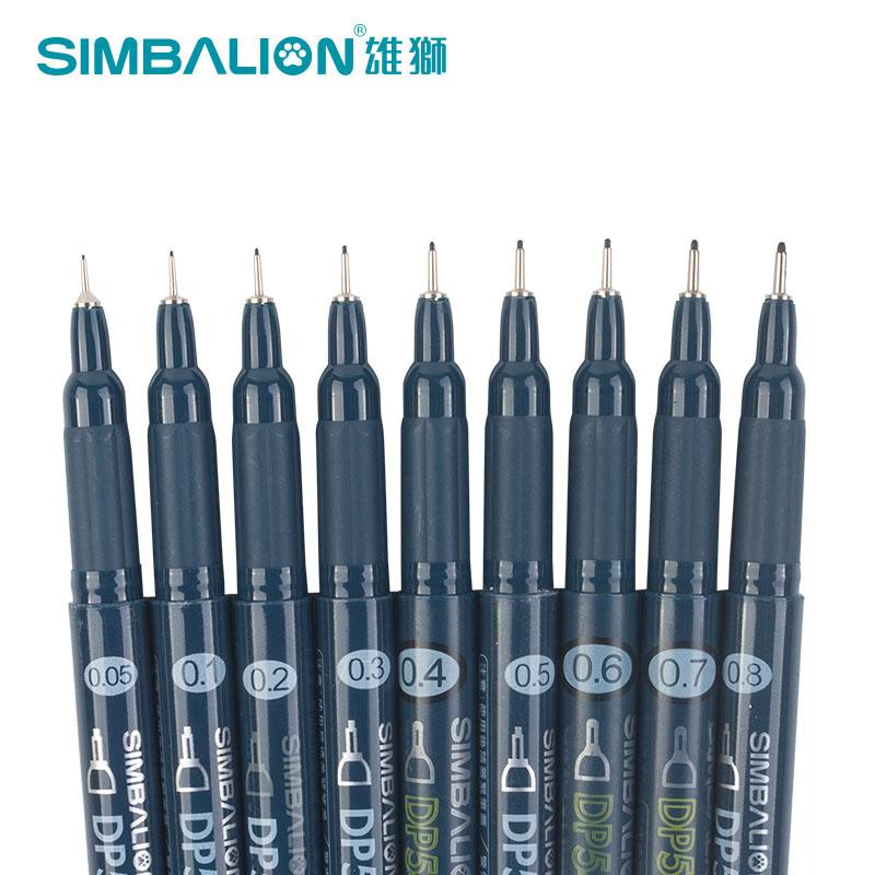 雄狮针管笔DP54针笔手绘漫画设计草图笔绘图笔描图勾线笔6支包邮