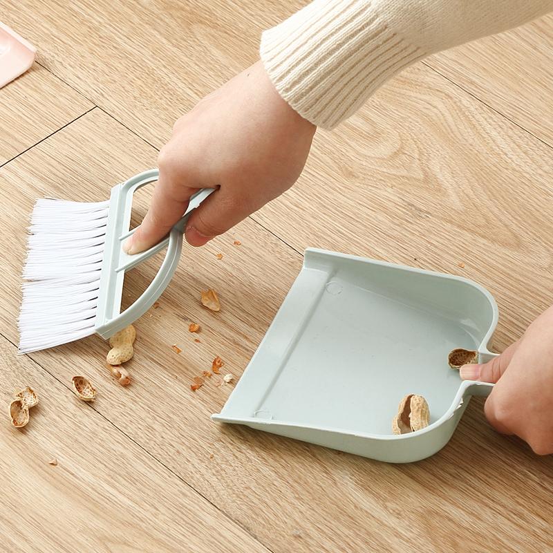 家用迷你小扫把簸箕套装键盘刷缝隙刷塑料撮箕畚斗桌面清扫小扫帚