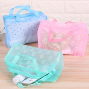 旅行化妆包女可爱韩国透明防水化妆袋大容量洗漱包小号便携收纳包