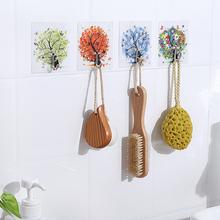创意四季挂衣钩强力免打孔粘胶挂钩浴室门后厨房墙壁粘贴无痕粘钩