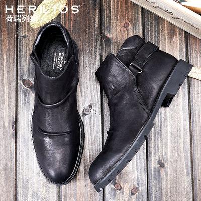 马丁靴靴子男工装靴英伦短靴男士机车靴休闲牛皮靴棉鞋韩版男鞋子