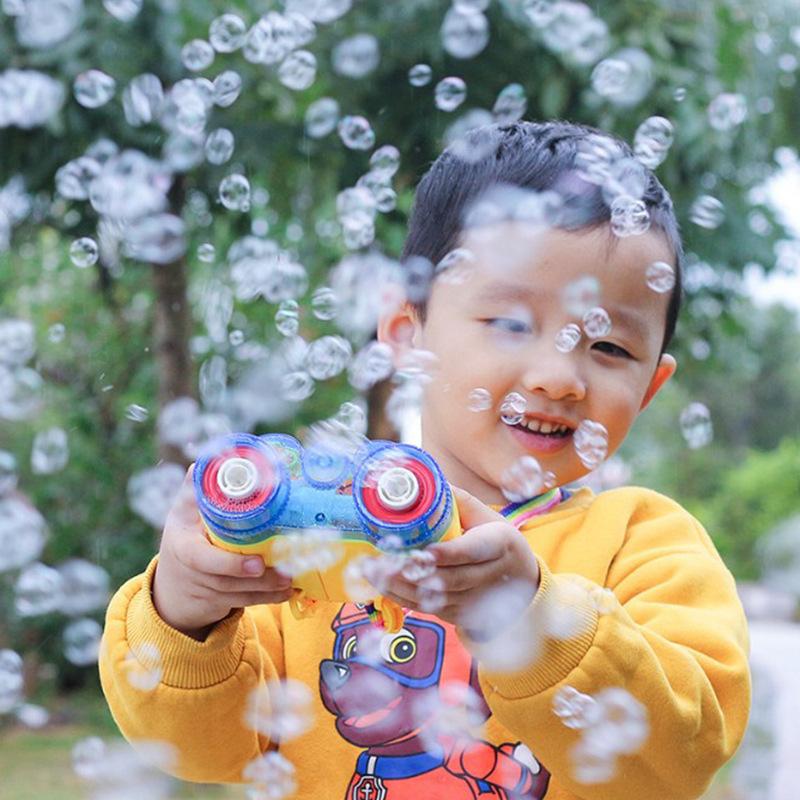 声光音乐吹泡泡望远镜全自电动儿童玩具户外不漏水创意泡泡枪新款