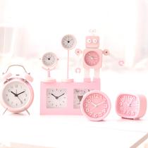 闹钟创意学生可爱糖果色儿童卡通韩版桌面闹钟简约现代床头女静音