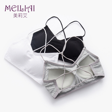 Tube top underwear anti-light gathering, wrapped chest, beauty back cross belt, no steel ring, chest pad, bottom strap, vest, female