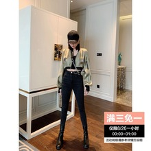 Liu Lala, Han Feng, handsome short baseball suit, waist-exposed jacket, women's summer early autumn, 2019 new style Baitie#