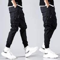YOA autumn new overalls men's tide brand Yu Wenle harem pants beam feet casual pants men's ins super fire pants