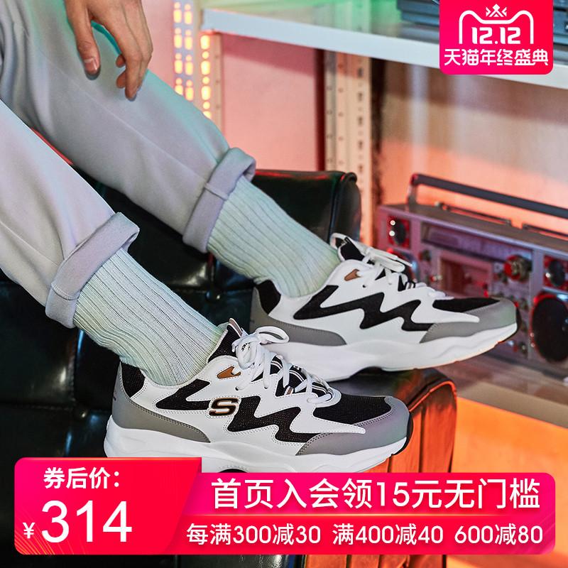 Skechers斯凯奇男鞋复古运动熊猫鞋厚底增高鞋跑步休闲鞋999090