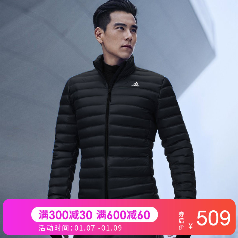 Adidas阿迪达斯羽绒服男2018冬季新款休闲运动服外套BQ2001