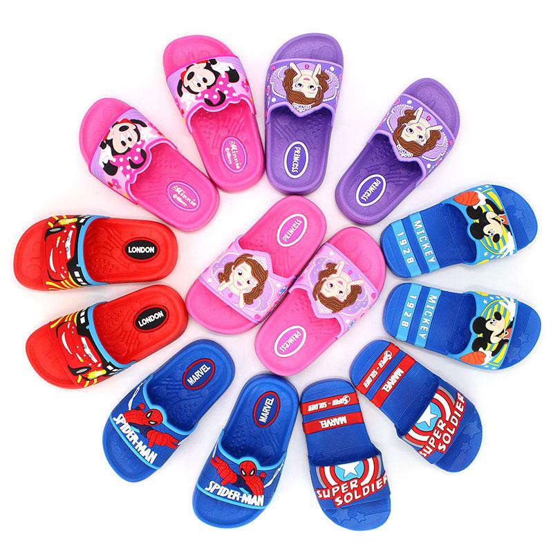 迪士尼儿童拖鞋男童女童夏季室内宝宝家用浴室防滑洗澡小孩凉拖鞋