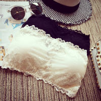 Lace sexy tube top anti-going light gathered wrapped chest girl bra strapless underwear small vest short paragraph female summer