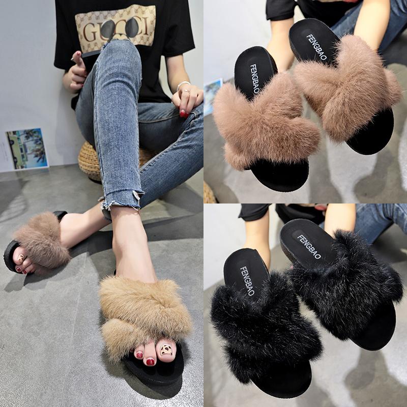 韩版松糕女拖鞋