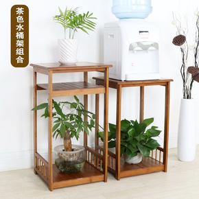 楠竹花架鱼缸架子实木客厅阳台室内置物架多层中式花台花盆架特价
