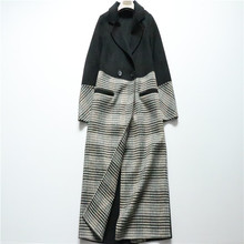 Special 18 Popular Chequered Double-sided Wool Overcoat Female Qianbi Chequered Wool Overcoat