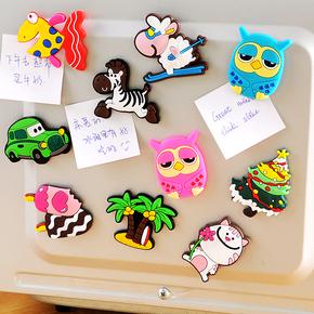 创意磁铁冰箱贴韩国卡通可爱3d立体萌物挂件吸铁石黑板装饰磁性贴