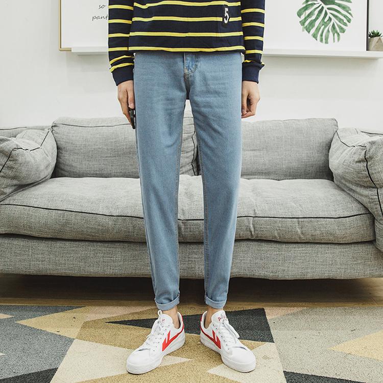 低腰深色哈伦裤