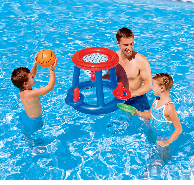 High Quality Plastic Material Water Basketball Volleyball Hand Goal Adult Children Inflatable Swimming Pool Accessories Modern Design Activity & Gear Mother & Kids