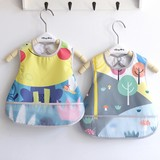 Baby bib rice bag with a baby bib cotton waterproof children's dinner clothes children saliva towel feeding clothes