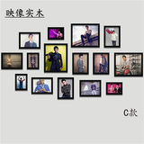 Jay Chou Idol Star Poster Decoration Painting Wall Painting Photo Frame Bar Living Room Bedroom Painting Wood Photo Wall