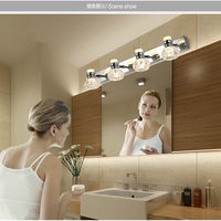 Mirror front light bathroom hand washing LED toilet wall lamp waterproofing dressing bathroom simple modern lighting free punching